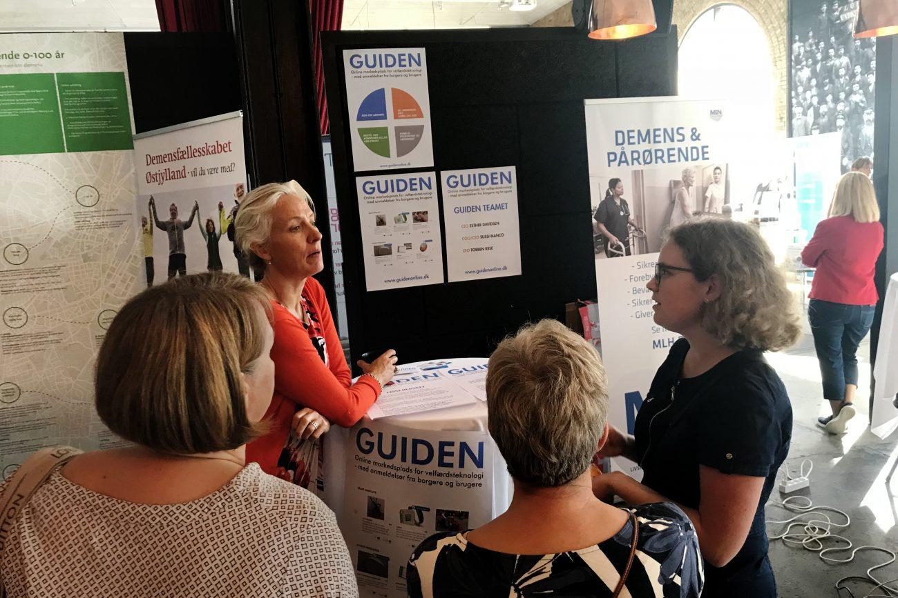 GUIDEN v. Esther Davidsen i dialog med virksomheder og brugerepå DemensLiv Messen