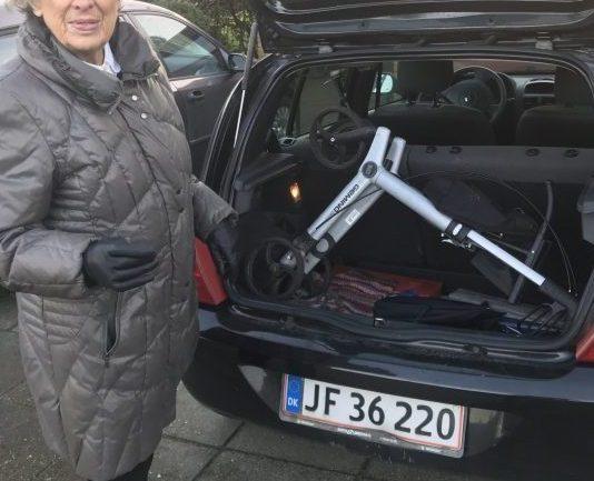 Rollator i bagageum