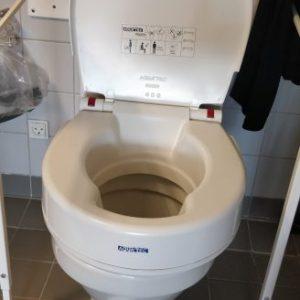 Toilet med toiletforhøjeren Aquatec 90000