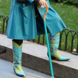 Kvinde med Sabi-stok